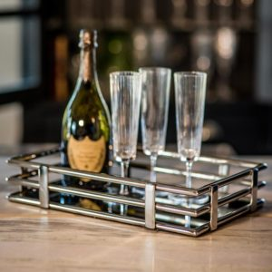 Art deco rectangular drinks tray