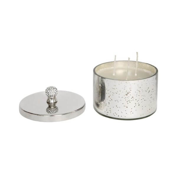 Antique style vanilla candle with crystal handle