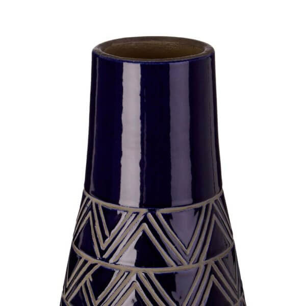 Complements Rizzo Vase Azure Handcrafted