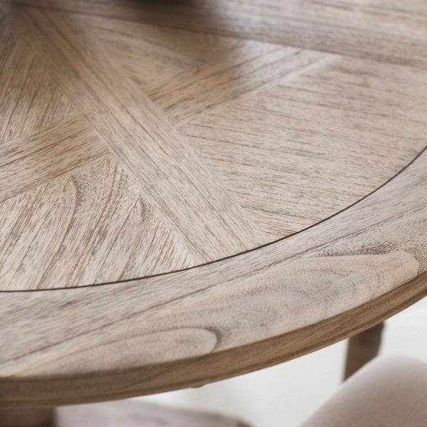 The Colonial Round Extending Dining Table & Chair Set (1.2m)