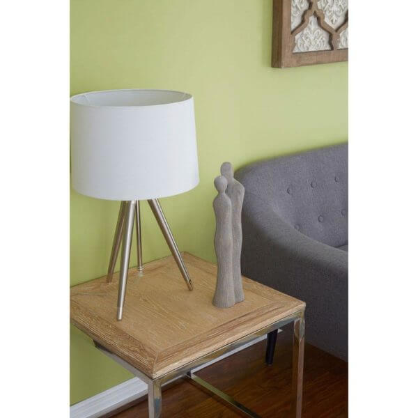 Hampstead Side Table Oak Wood / Stainless Steel