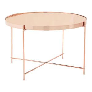 The Mirrored Short Side Table – Rose Gold