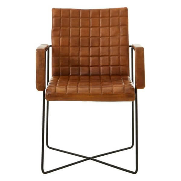 The Brown Leather Occasional Chair