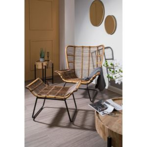 The Nordic Rattan Chair And Footstool
