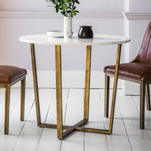 The White Marble Round Dining Table