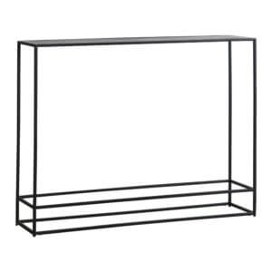 The Metal Frame Console Table Antique Silver