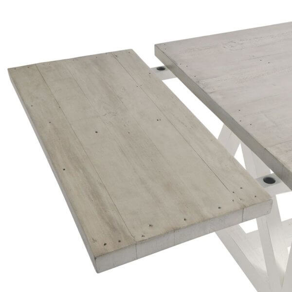 The White and Grey 2m Extending Dining Table Set