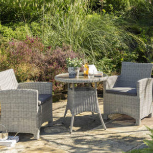 2020 Kettler Palma Garden Bistro Table Set With Arm Chairs
